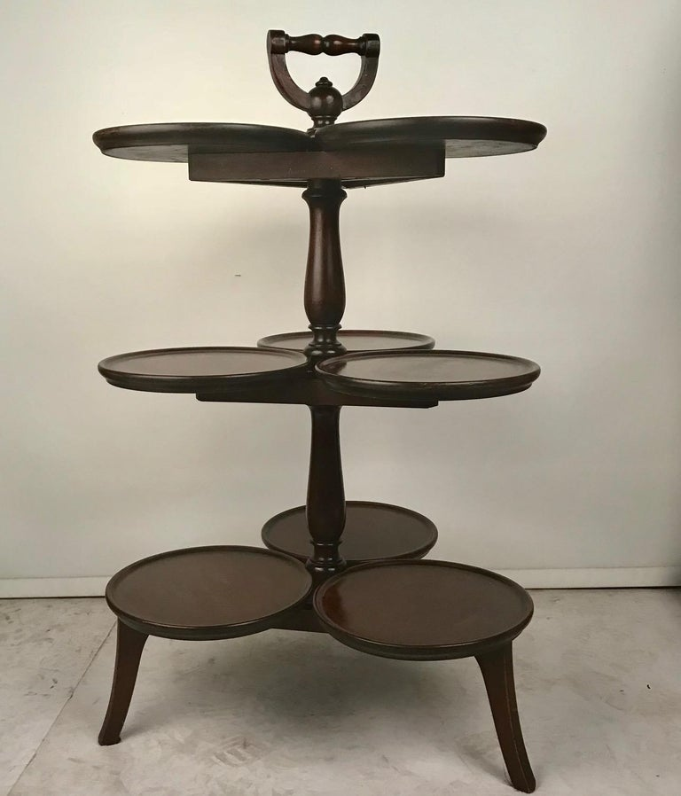 Victorian Mahogany Nine-Tray Plate Stand In Good Condition For Sale In Montreal, QC