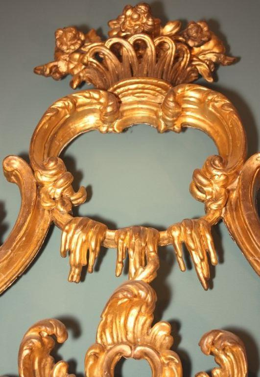 English George III  Giltwood Mirror For Sale