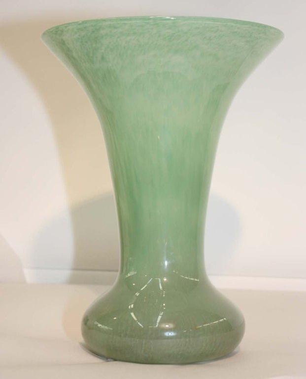 Scottish Monart Green Art Glass Vase For Sale At 1stdibs