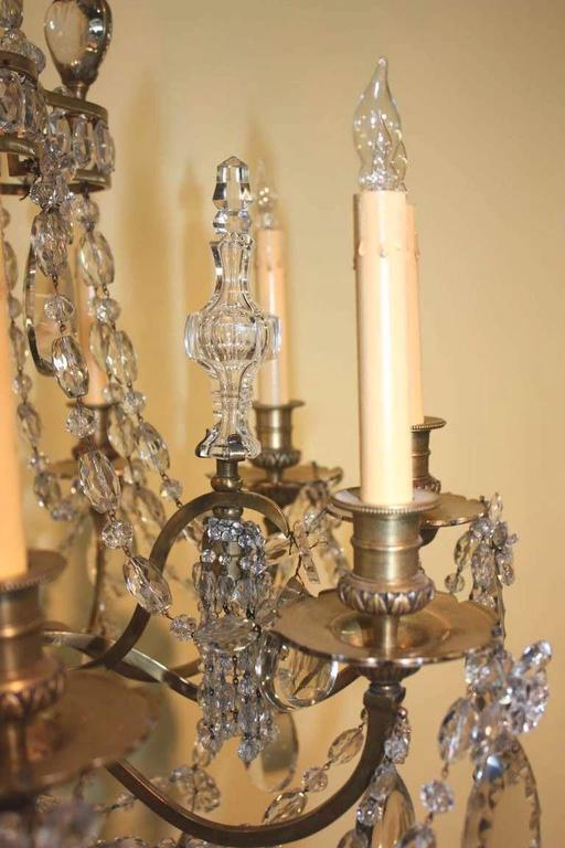 Baguès Louis XVI Style Twelve Light Crystal Chandelier In Good Condition For Sale In Montreal, QC