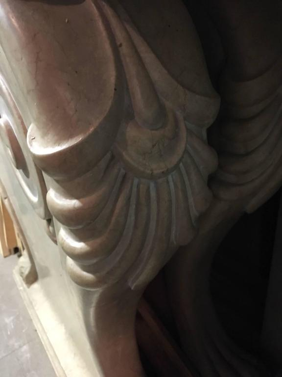 19th Century Marble Center Console Table For Sale
