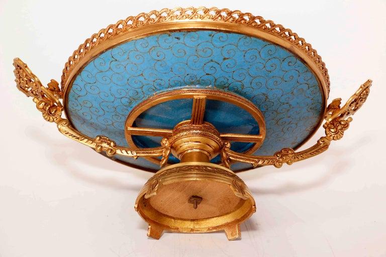 Cloissoné Antique French Centerpiece For Sale