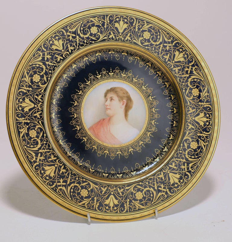 Set of Four Old Vienna Porcelain Cabinet Plates at 1stdibs