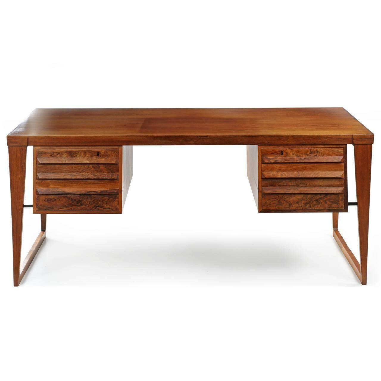 Rosewood Kai Kristiansen Executive Desk At 1stdibs