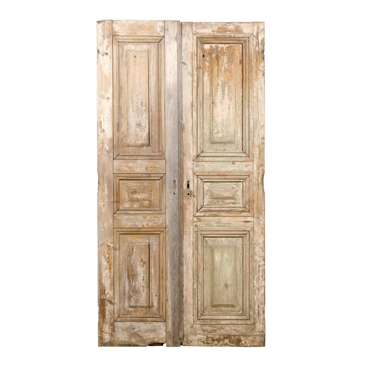 Pair of french 19th century wooden doors for sale at 1stdibs for French doors for sale