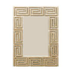 Greek Key Painted Wood Mirror