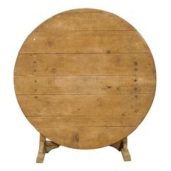 Pale Wood Wine Tasting Table from the Early 20th Century