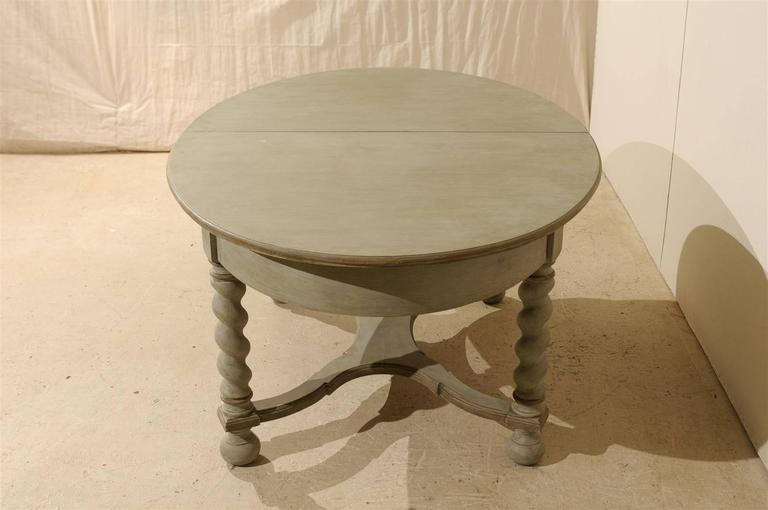 Wood Swedish Baroque Style Oval Table from the Mid-20th Century For Sale