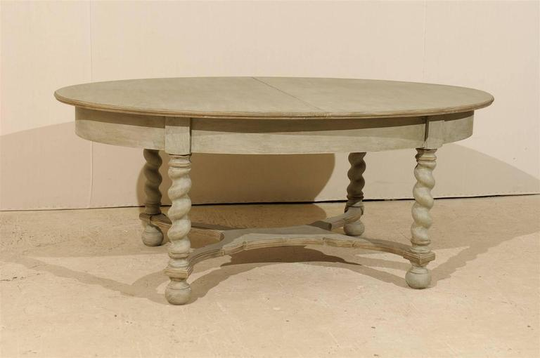 Painted Swedish Baroque Style Oval Table from the Mid-20th Century For Sale