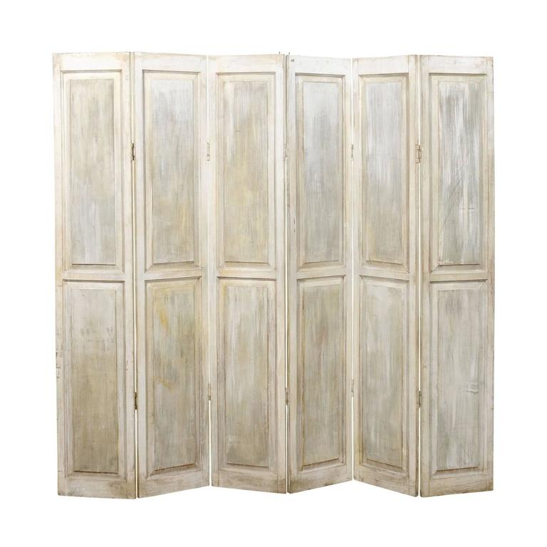 Wood Folding Screen Or Room Divider Accordion Style For