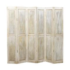 Wood Folding Screen or Room Divider, Accordion Style