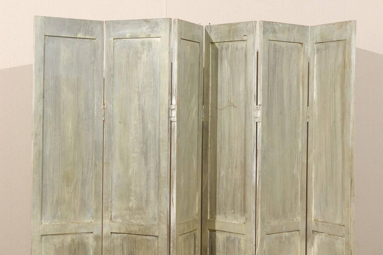 wood folding screen room divider