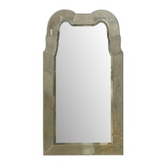 "The ""Queen Anne"" Venetian Style Mirror with Double Hooded Crest, Hand Silvered"