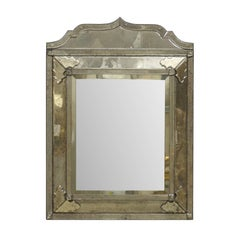 "A ""Milano"" Venetian Style Hand-Silvered Mirror w/ Raised Central Panel"