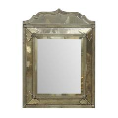 "A ""Milano"" Venetian Style Hand-Silvered Mirror with Raised Central Panel"