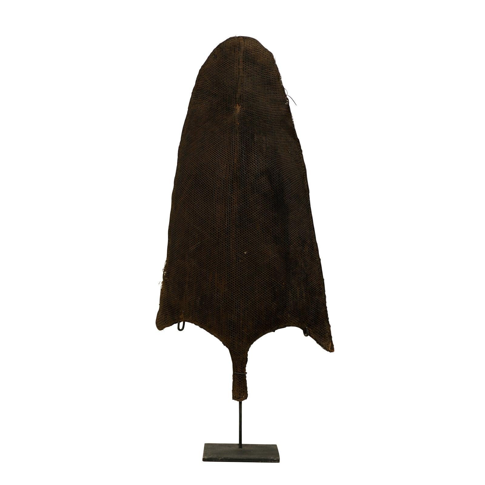 Naga Tribe Rain Shield on Custom-Stand from Northeastern India, Mid-20th Century