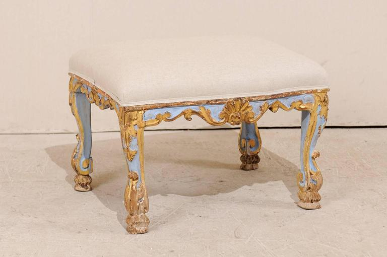 Cool Italian Period Rococo Carved Gilded Painted Wood Stool From The 18Th Century Creativecarmelina Interior Chair Design Creativecarmelinacom