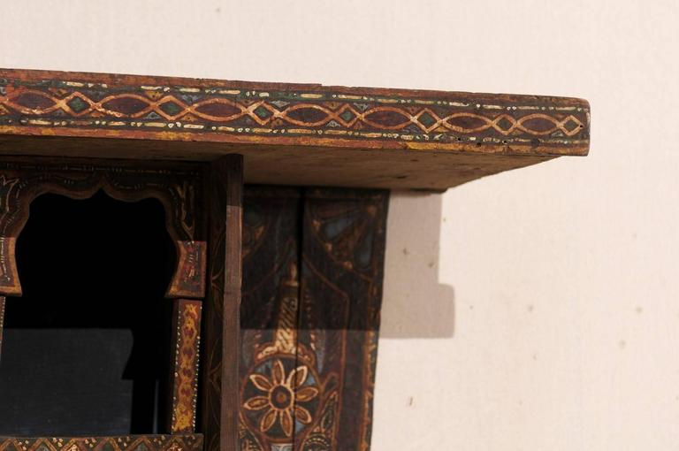 Mid-20th Century Moroccan Spice Rack, Handmade and Hand-Painted For Sale 1