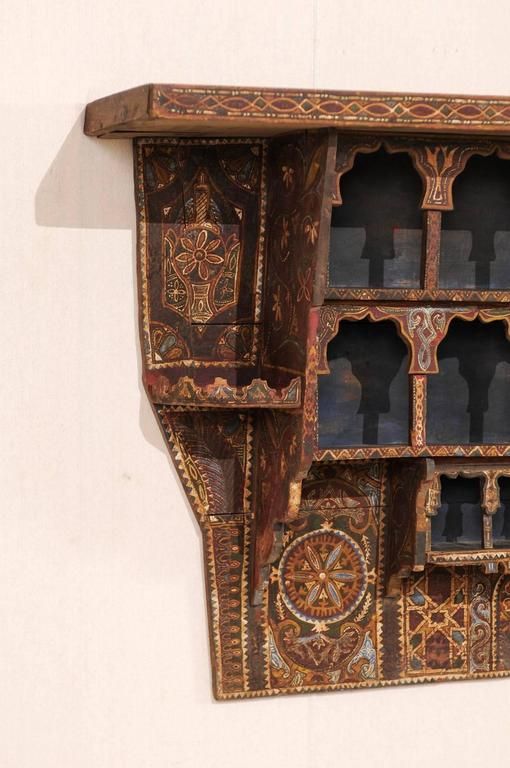 Mid 20th Century Moroccan Spice Rack, Handmade And Hand Painted In Good  Condition