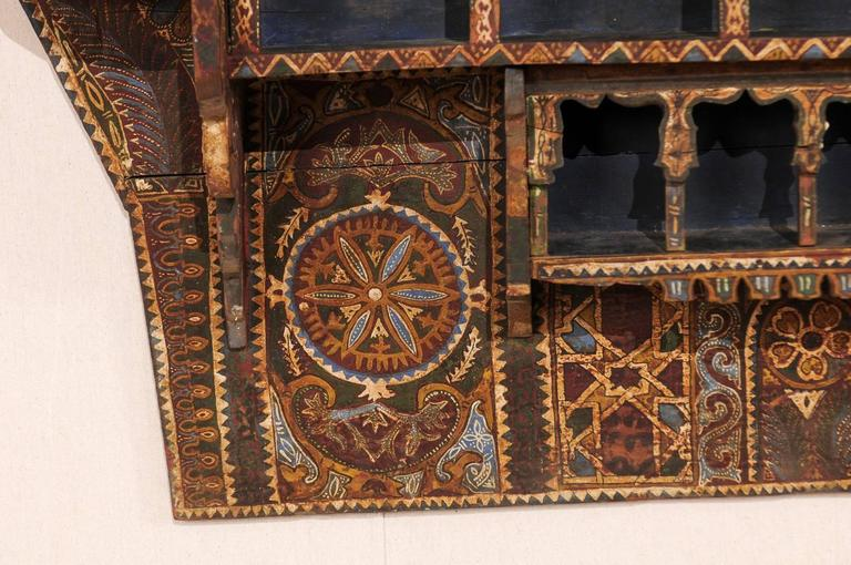 Mid-20th Century Moroccan Spice Rack, Handmade and Hand-Painted For Sale 4