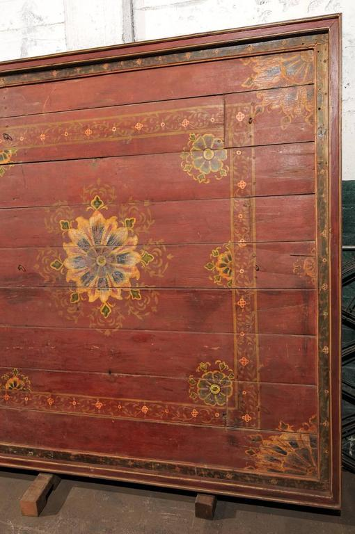 A Grand-Sized 19th C. Beautifully Painted Ceiling Panel from South India For Sale 2