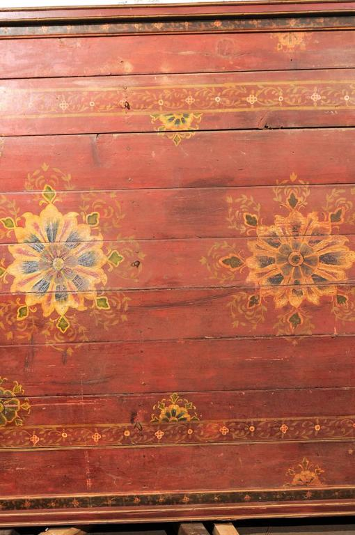 A Grand-Sized 19th C. Beautifully Painted Ceiling Panel from South India For Sale 1