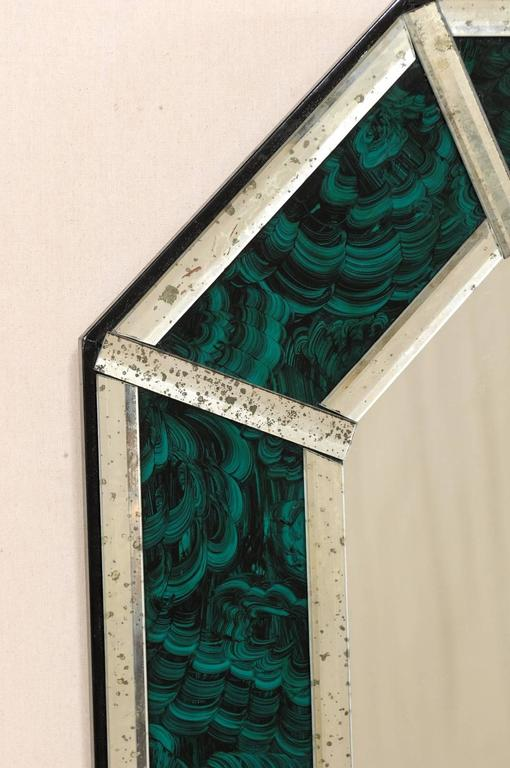 Large Size Deep Green And Teal Colored Malachite Wall