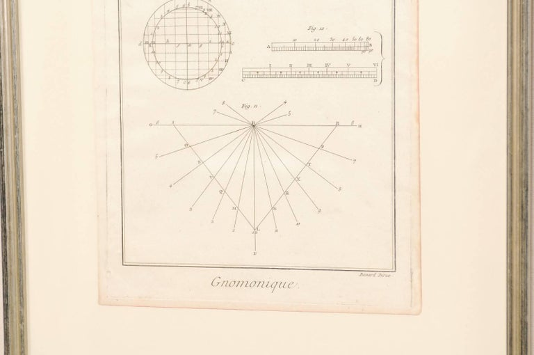 Pair of French Astronomy and Geometric Renderings by Artist Bernard Direx For Sale 2