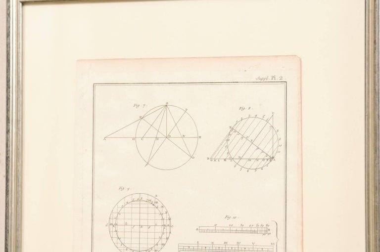 Pair of French Astronomy and Geometric Renderings by Artist Bernard Direx For Sale 1