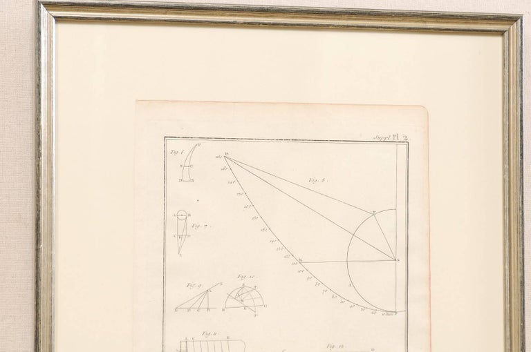 18th Century and Earlier Pair of French Astronomy and Geometric Renderings by Artist Bernard Direx For Sale