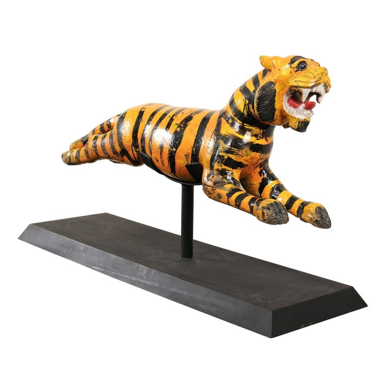 Merry-go-round Tiger from Burma Myanmar Asia, 20th Century For Sale