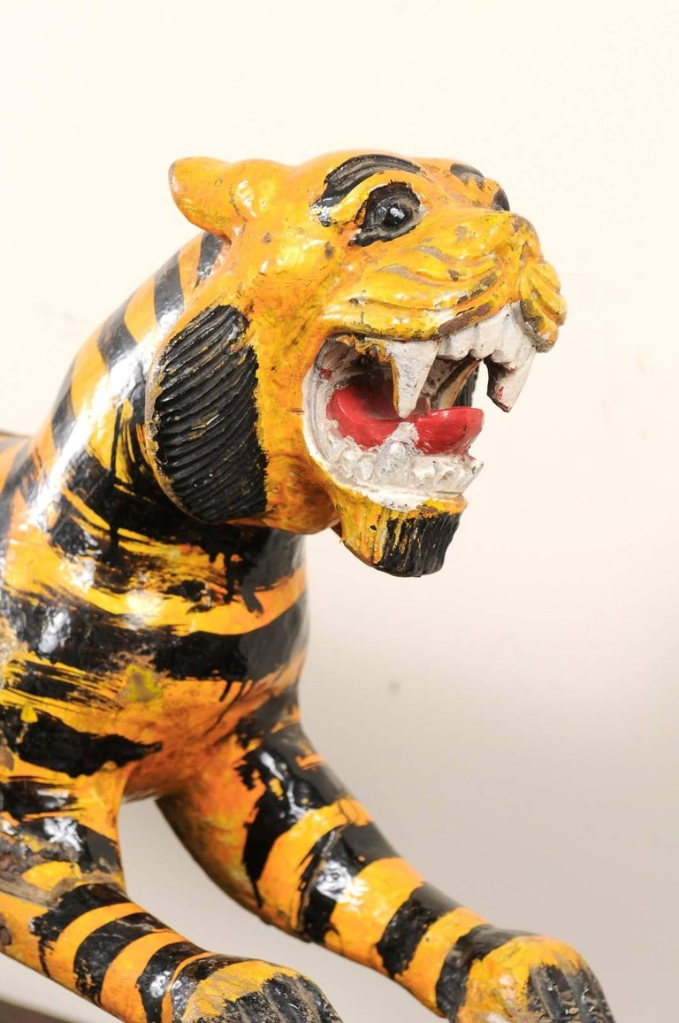 Merry-go-round Tiger from Burma Myanmar Asia, 20th Century For Sale 2