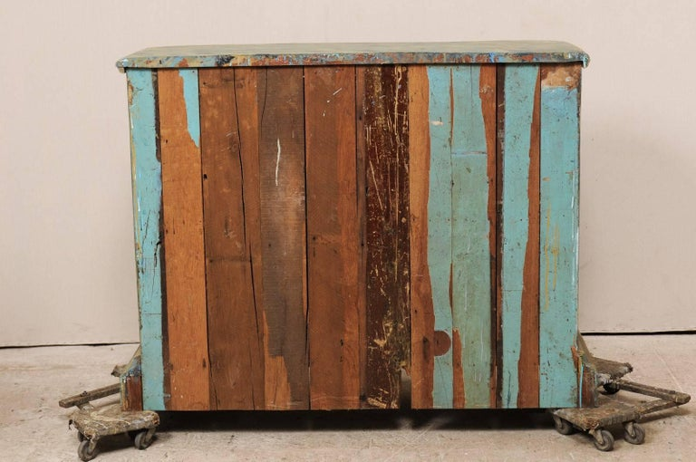 Custom Vintage Italian Style Two-Door Painted Wood American Buffet Console For Sale 4