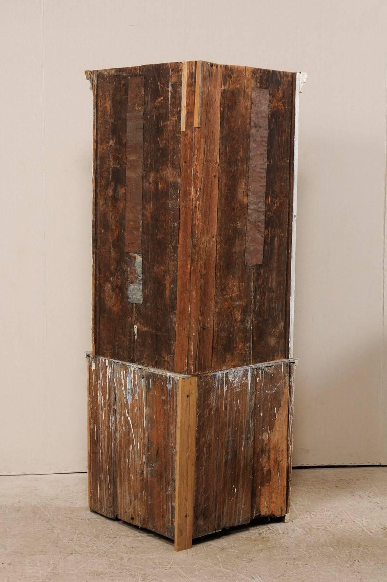 Swedish Late 18th Century Period Gustavian Tall Painted Wood Corner Cabinet For Sale 5