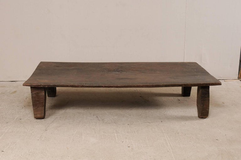 Beautiful Rustic Primitive Naga Wood Coffee Table from the Tribes of North India For Sale 3