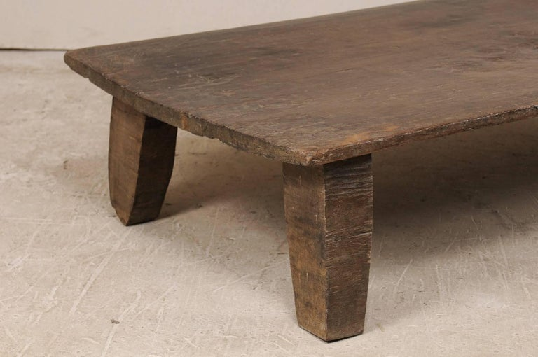 Indian Beautiful Rustic Primitive Naga Wood Coffee Table from the Tribes of North India For Sale