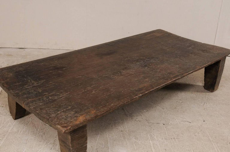 Beautiful Rustic Primitive Naga Wood Coffee Table from the Tribes of North India In Good Condition For Sale In Atlanta, GA