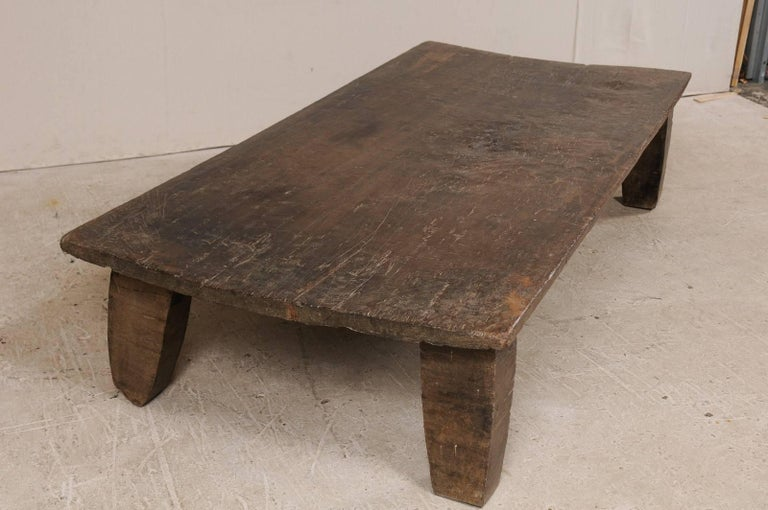 Beautiful Rustic Primitive Naga Wood Coffee Table from the Tribes of North India For Sale 2