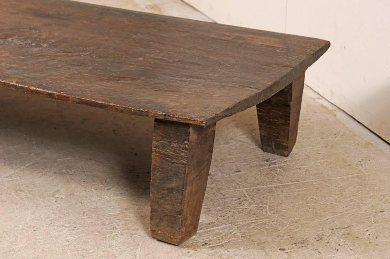 Beautiful Rustic Primitive Naga Wood Coffee Table from the Tribes of North India For Sale 1