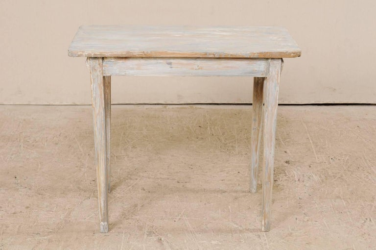 Swedish Period Gustavian, 19th Century Painted Wood Side Table with Drawer 5