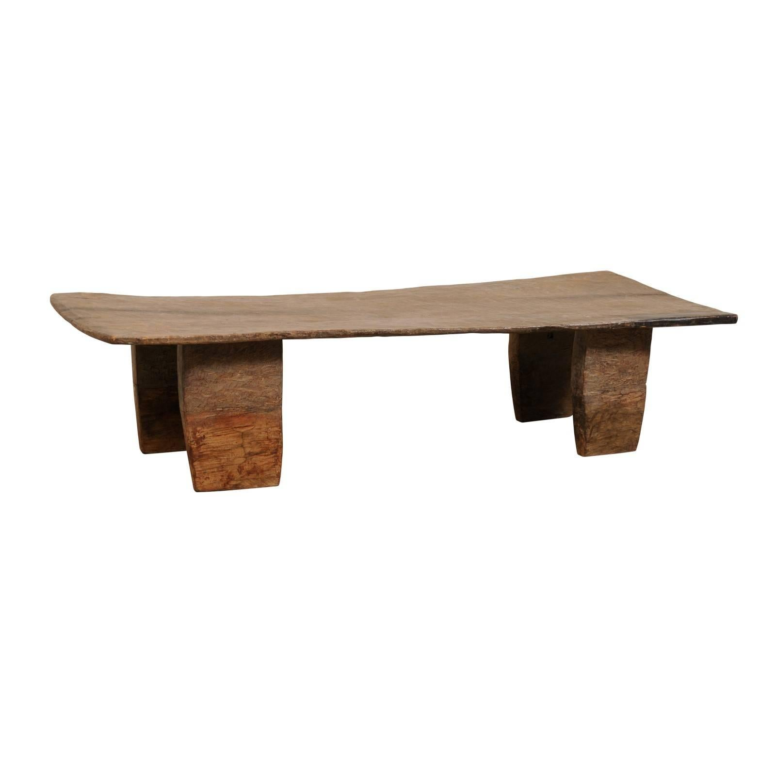 Superieur Beautifully Rustic Primitive Naga Wood Coffee Table, Late 19th Century,  India For Sale