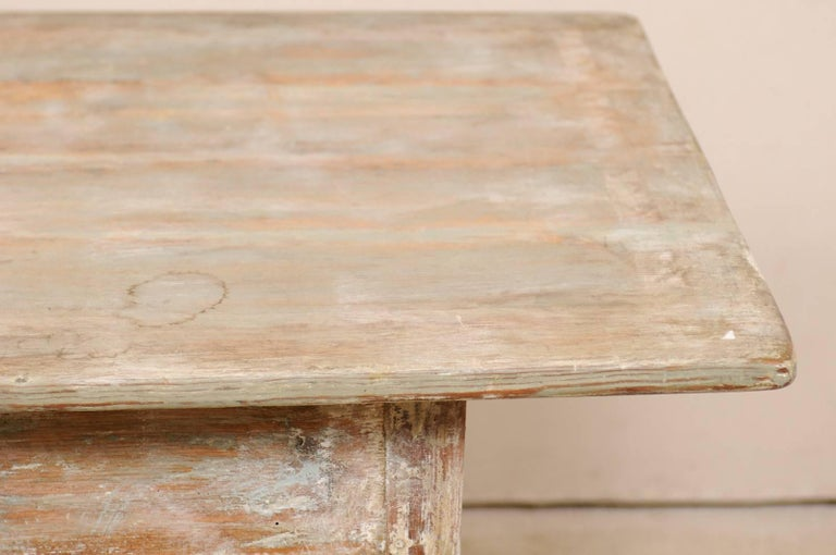 Period Gustavian Swedish 19th Century Pale Fir Wood Side Table For Sale 6