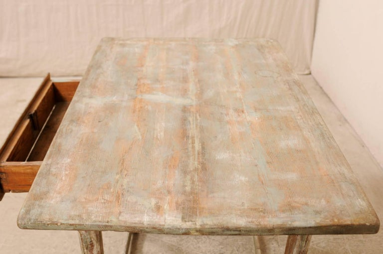 Period Gustavian Swedish 19th Century Pale Fir Wood Side Table For Sale 3