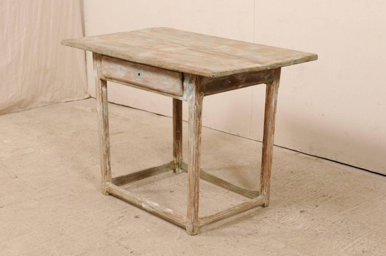 Period Gustavian Swedish 19th Century Pale Fir Wood Side Table In Good Condition For Sale In Atlanta, GA