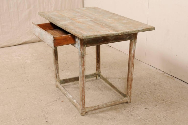 Period Gustavian Swedish 19th Century Pale Fir Wood Side Table For Sale 1