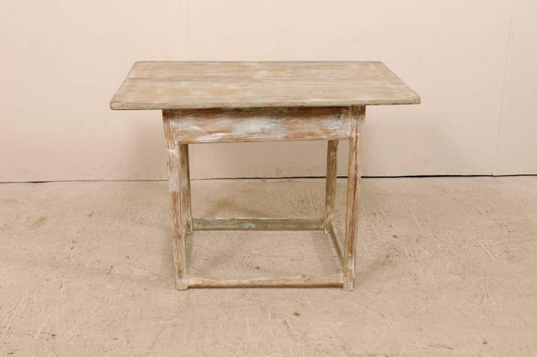 Period Gustavian Swedish 19th Century Pale Fir Wood Side Table For Sale 4