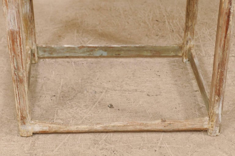 Period Gustavian Swedish 19th Century Pale Fir Wood Side Table For Sale 5
