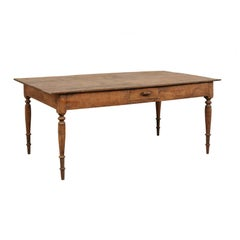Dutch Colonial Teak Wood Table or Desk from the Late 19th-Early 20th Century