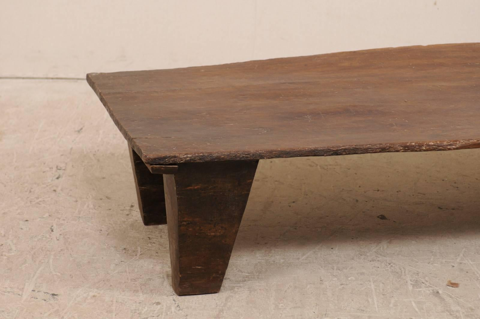 Indian Primitive Rustic Naga Wood Coffee Table From The Early 20th Century,  India For Sale
