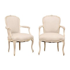 Pair of Swedish Louis XVI Style Armchairs from the Mid-20th Century
